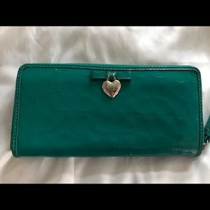 Lovely green Coach wallet